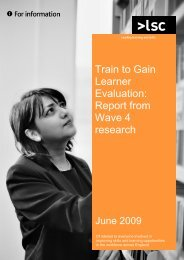 Employee evaluation report - lsc.gov.uk - Learning and Skills Council