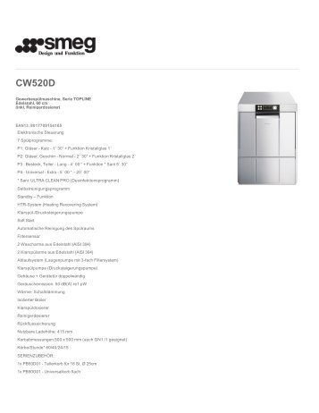CW520D - Smeg