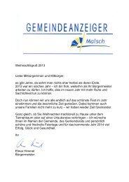 GA 51-2013 - Gemeinde Malsch