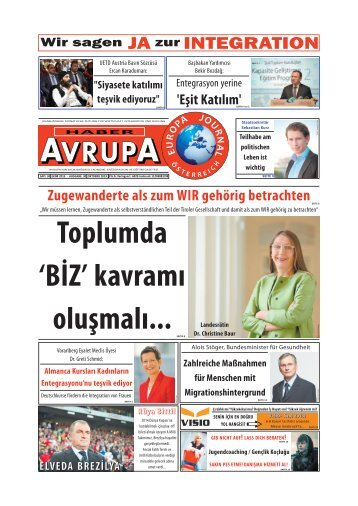 Toplumda 'BİZ' kavramı oluşmalı... - Europa Journal
