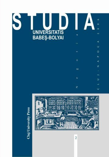 studia universitatis babeş-bolyai negotia 2