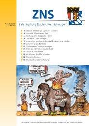 ZNS Ausgabe 5/2013 ist online - Zahnärztlicher Bezirksverband ...
