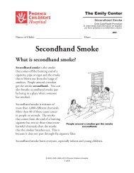 Second Hand Smoke - Phoenix Children's Hospital