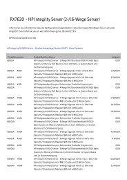 RX7620 - HP Integrity Server (2-/16-Wege Server)