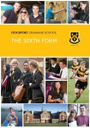 Download the prospectus (pdf) - Stockport Grammar School