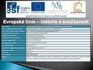 Evropská Unie - SŠIEŘ - Rožnov pod Radhoštěm