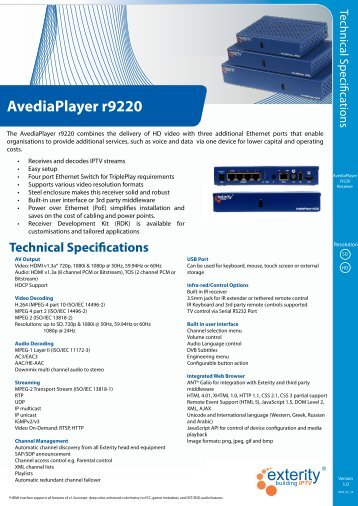 AvediaPlayer r9220 - Netvue