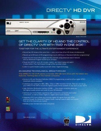 DIRECTV® HD DVR - DBSInstall.com
