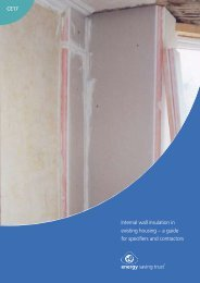 Internal wall insulation in existing housing - Energy Saving Trust