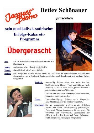 Veranstalter - von Detlev Schönauer