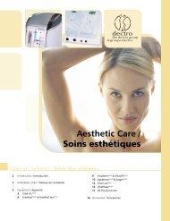 Aesthetic Care / Soins esthétiques - Dectro International