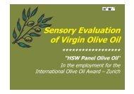 Sensory Evaluation of Virgin Olive Oil - International Olive Oil Award