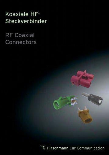 Koaxiale HF-Steckverbinder PDF
