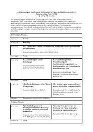 Zum Programm (pdf) - Konferenz der Einrichtungen für Frauen