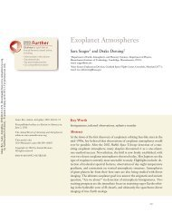 Exoplanet Atmospheres - Department of Earth and Planetary ...