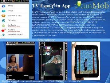 TV Espaأƒآ±a App - RunMob