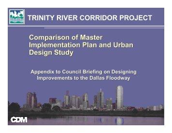 Appendix: Comparison of Master Plan and Urban Design Study