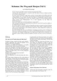 Kolumne: Der Weg nach Morgen (Teil 1) - Professorenforum
