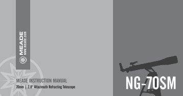 NG70-SM Manual - Meade