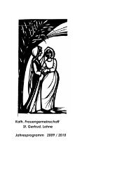 Kath. Frauengemeinschaft St. Gertrud, Lohne Jahresprogramm ...