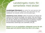 Katarina Gustafson HELA SKOLAN - Landstinget Sörmland