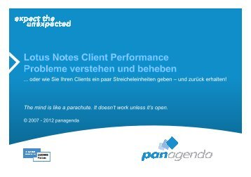 panagenda - Under the Hood of Notes Clients_DE