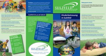 Kinderbetreuung in Sulzfeld