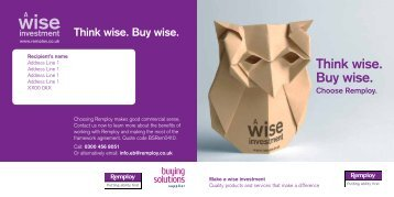 Think wise. Buy wise. - Remploy e-cycle