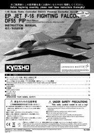 EP JET F-16 FlTlN FALC - Kyosho