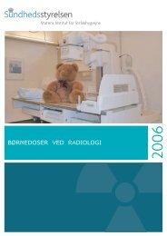 Børnedoser ved radiologi - Sundhedsstyrelsen