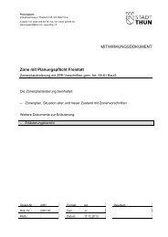 Erläuterungsbericht zur Zone mit Planungspflicht Freistatt - Thun