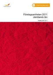 Företagsamheten Jämtland 2011-02 - Svenskt Näringsliv