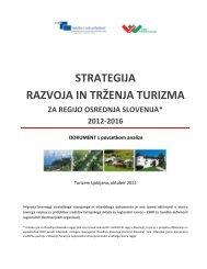 Strategija razvoja in trženja turizma za regijo Osrednja ... - Ljubljana