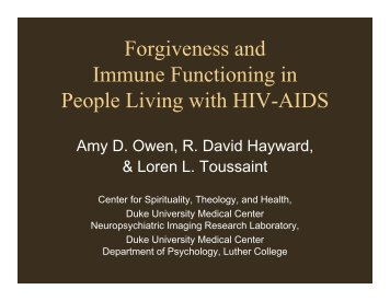 forgiveness hiv thesis