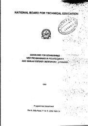 Guidelines for Establishing New Programmes in ... - NBTE