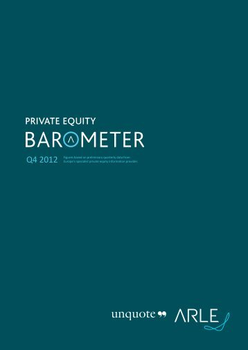 "Click here to read the Q4 2012 unquote"" Private Equity Barometer in ..."