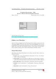 Füllen von Tabellen - Informationssysteme