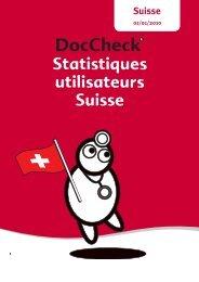 Statistiques utilisateurs Suisse - Doccheck