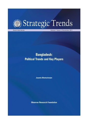 Bangladesh: Political Trends and Key Players - Observer Research ...
