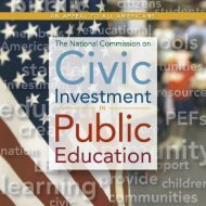 National Commission on Civic Investment in Public Education