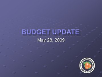 Budget Update - PowerPoint Presentation to the Board (PDF)