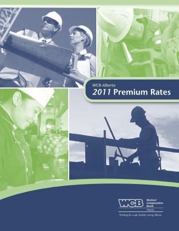 2011 Premium Rates 2011 - Workers' Compensation Board