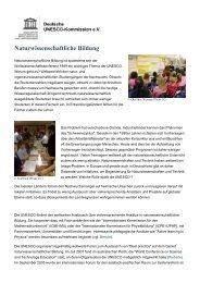 Naturwissenschaftliche Bildung - Unesco