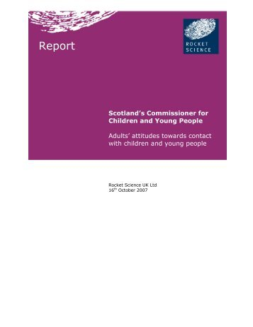 Adult attitudes to contact with children and young people