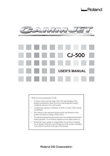 Roland Cj-500 Инструкция - фото 4