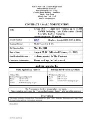 Bid Info Memo - New York State Office of General Services