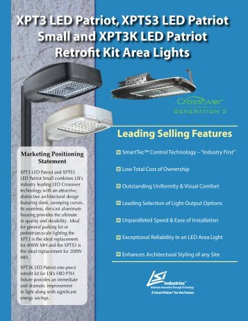 XPT3 LED Patriot and Retrofit Kit - LSI Industries Inc.