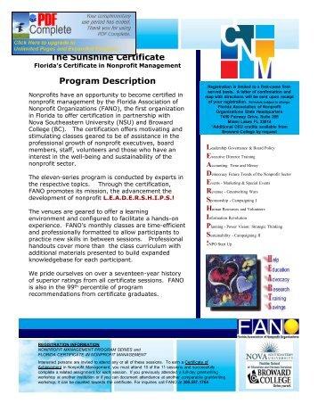 2013 Nonprofit Certification Registration Form - Blacktie South Florida