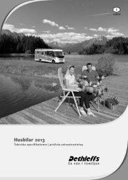 Tekniska data/Prislista husbilar 2013 (3,9 MB) - Dethleffs