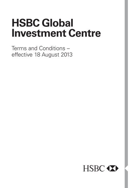 Global Investment Centre Terms and Conditions - HSBC